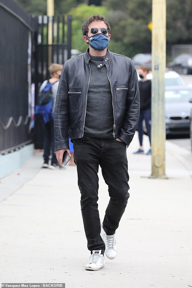 Rekindled romance: According to People, Lopez, 51, did travel to LA this past weekend for business, but also to be with Affleck while he spends time with his family