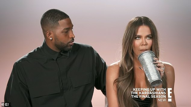 Drama: And while things between Kourt and Travis are hot and heavy, Khloé (R) and Tristan (L) remain on shaky ground as they deal with yet another scandal surrounding his former flame