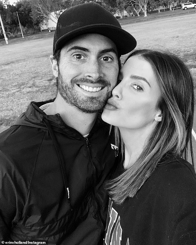 Separated: In recent weeks, the former Miss World Australia has been separated from her new husband, cricketer Ben Cutting, due to him being stuck in Covid-ravaged India