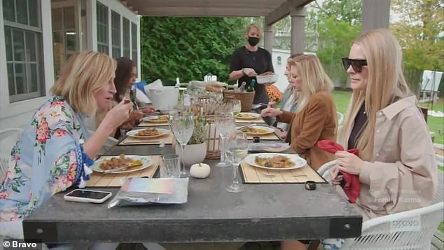 Curry meal:It didn't take long after the women sat down to enjoy Garth's curry for things to get heated