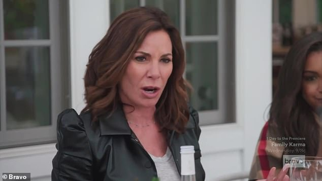 Heated argument:Luann de Lesseps and Eboni K. Williams engaged in a racially charged argument during Tuesday's episode of The Real Housewives Of New York City