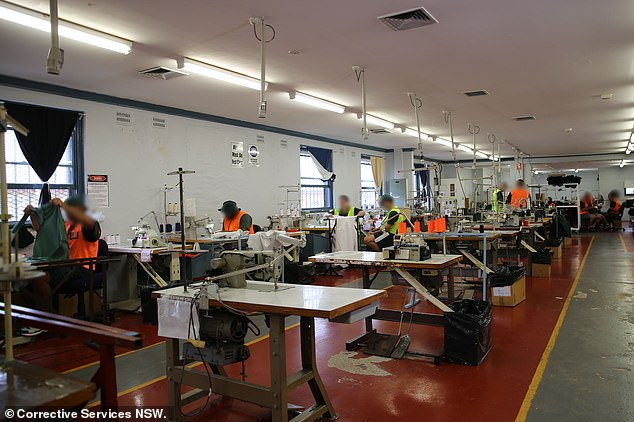 The textile workshop at Cooma is pictured. Hayne had requested a different job from sewing prisoners' clothes