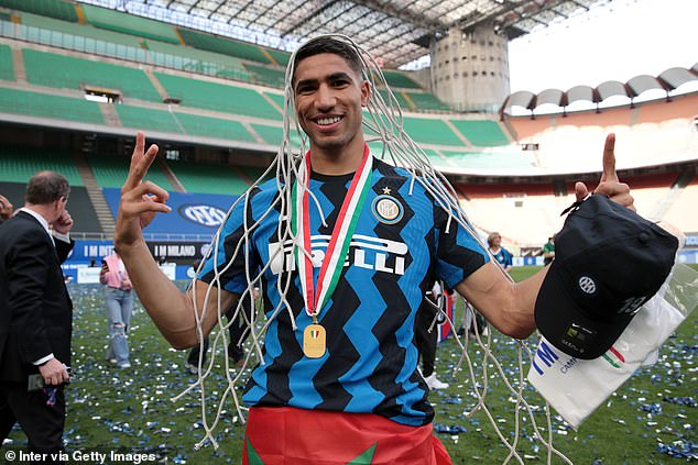 Inter Milan meanwhile fear they could lose Achraf Hakimi to Paris Saint-Germain this summer