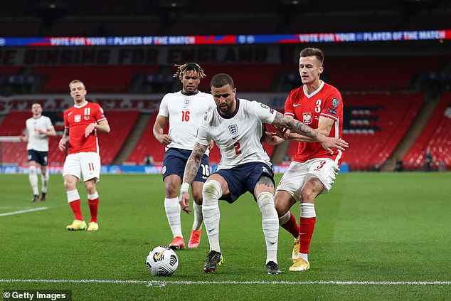 Kyle Walker, who was a shoo-in for the squad, is England's most experienced right back