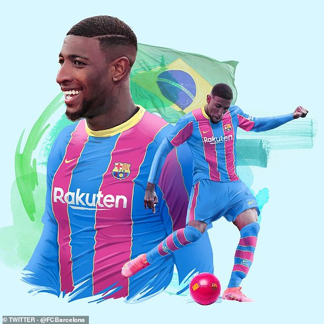 Barcelona have announced the signing of Real Betis and Brazil defender Emerson Royal