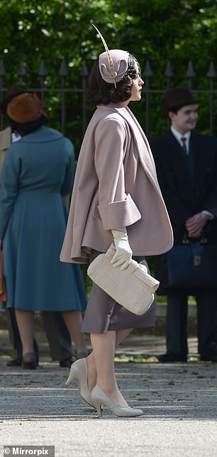 Side profile: Claire looked very elegant as Margaret