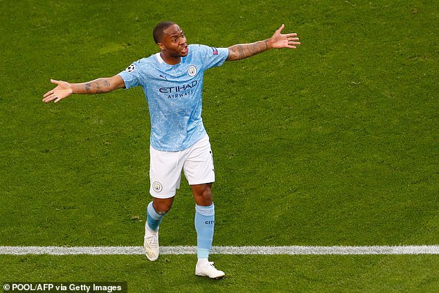 Raheem Sterling struggled to make an impact for Man City in the Champions League final