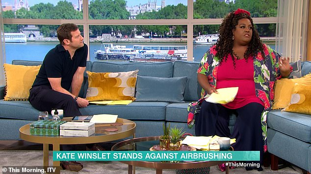 """Each to their own:Alison (pictured with Dermot O'Leary) admitted she's not 'sure' she'd be as confident as Kate, joking: 'I'd be like """"put it all in, edit me all out, make me smaller!"""""""