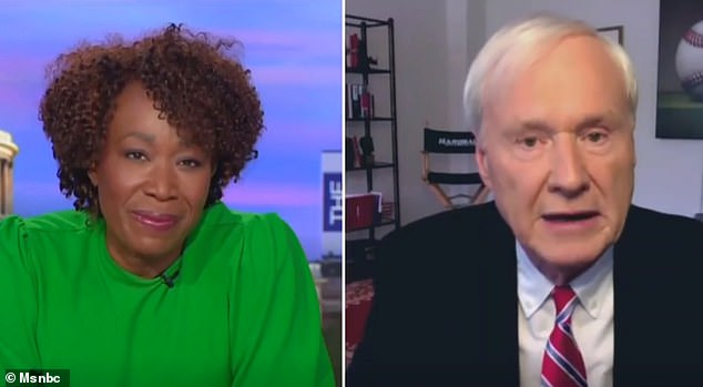 Chris Matthews, 75, appeared on Joy Reid's The ReidOut - the show that replaced him on MSNBC - on Tuesday night. He said it was 'wrong' of him to compliment female journalist Laura Basset on her appearance, and that it cost him his 20-year show