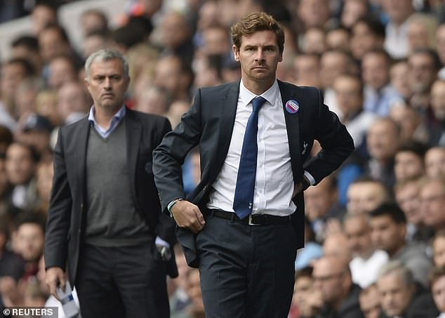 Conte would join Andre Villas-Boas (front) and Mourinho in managing both London sides