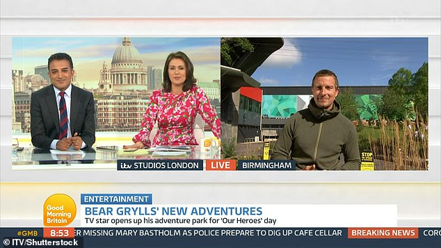 Improvise:Bear recently told how the duo were forced to cook an egg with hand sanitiser as he detailed their adventure during an appearance on Good Morning Britain last month