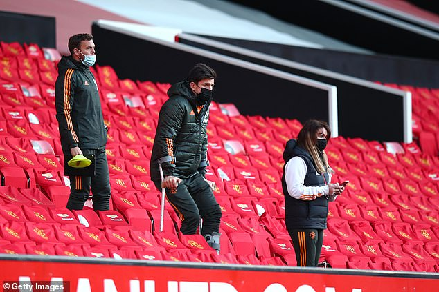 Harry Maguire was on crutches not so long ago and is in a race against time to return to fitness