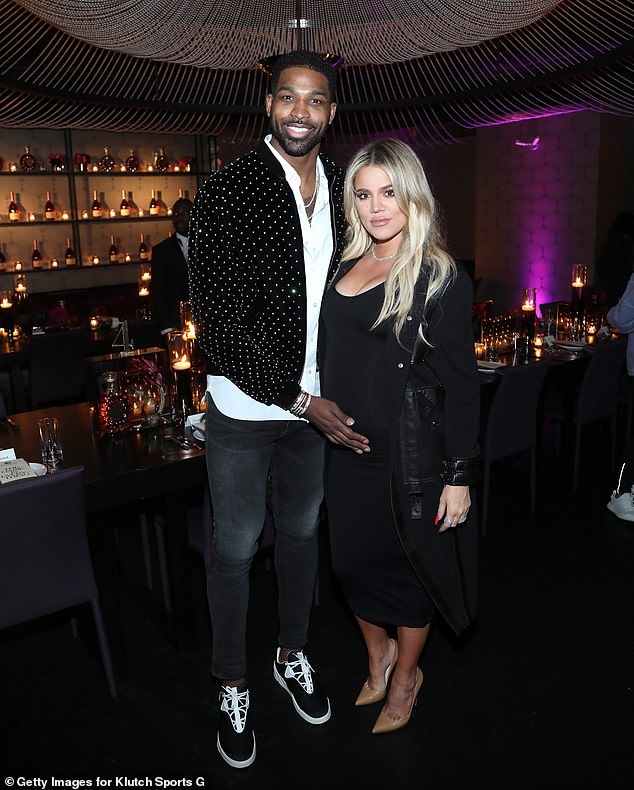 Lots of History: Tristan and Khloé first went public with their romance in September 2016 after she finalized her divorce from ex-husband Lamar Odom;  seen in 2018