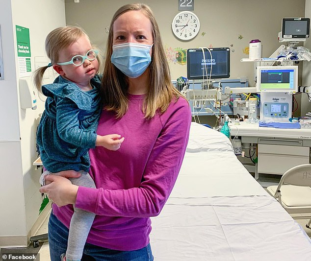 Emma has been on a drug called adrabetadex, which helped her regain some movement in her limbs and start communicating. Pictured: Emma with her mother