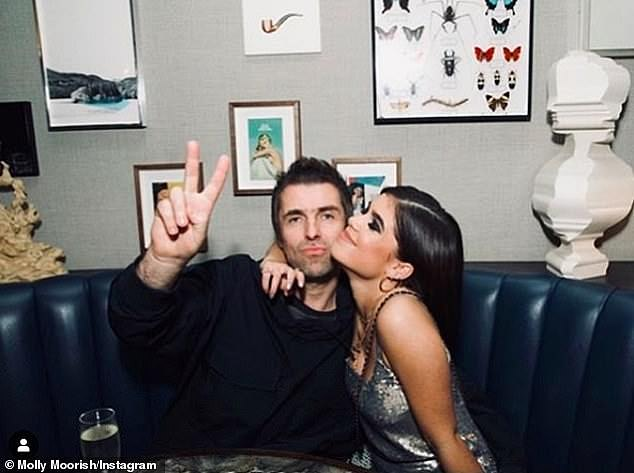 Supportive: Molly's dad Liam Gallagher previously revealed he'd given the relationship his seal of approval, after reconnecting with his daughter following 20 years of being estranged