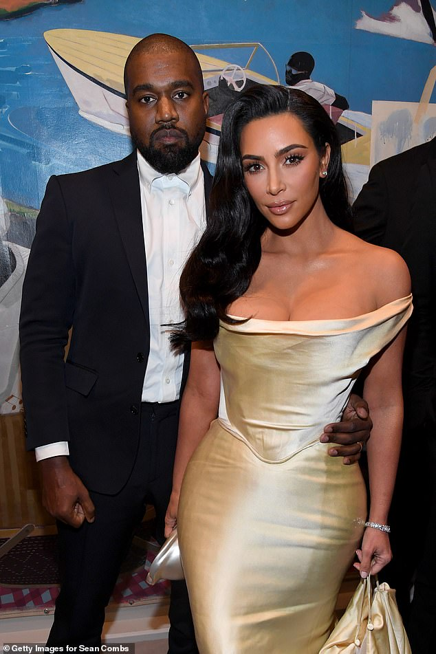 Split: The star filed for divorce from Kanye after nearly seven years of marriage