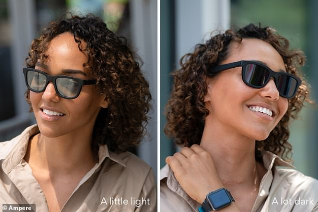Users can also set their Dusk sunglasses to automatically shift tint according to ambient light levels