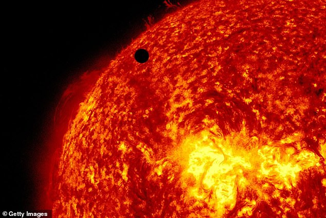 The surface temperature of Venus is 864 degrees Fahrenheit, while it is about 57 degrees for Earth.