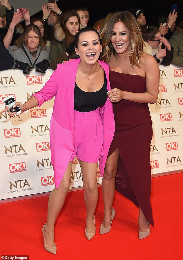 True friend: Last month, Scarlett revealed she was comforted by Caroline Flack after vile trolls attacked her looks when she appeared on an episode of Love Island: Aftersun