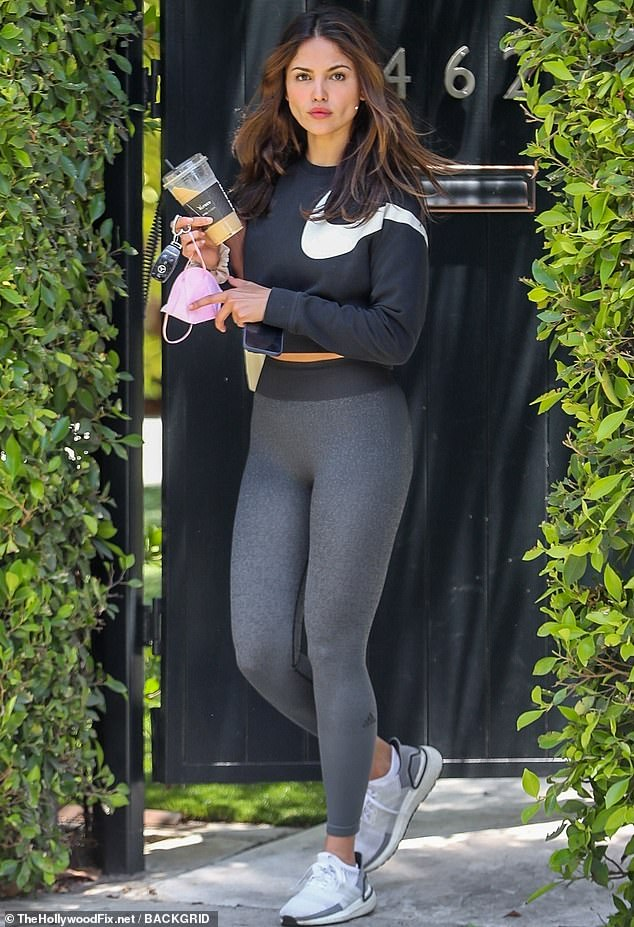 Hollywood gal:Eiza Gonzalez appears to have fully embraced the rigors of Los Angeles living as she was seen emerging from a Pilates session this Wednesday