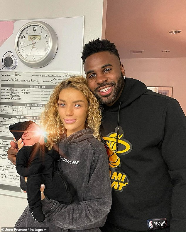 Meet Jason King Derulo! Jena and her boyfriend Jason Derulo announced the arrival of their child in May