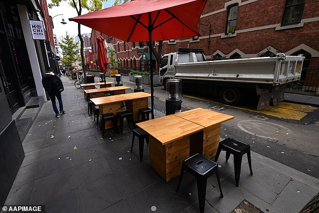 Under the existing Australian Government Disaster Recovery Payment, adults affected by a flood, bushfire or earthquake are each entitled to $1,000 each, while children under 16 get $400 each. Pictured are empty seats in Melbourne