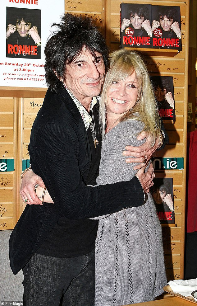 Recovery: Ronnie Wood's ex-wife Jo has said the Rolling Stones rocker is recovering well after battling cancer for the second time in lockdown (pictured in 2007)