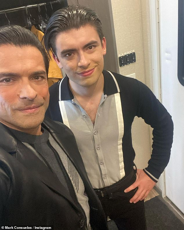 Father and son:Michael is the oldest of three children Ripa shares with her husband Mark Consuelos, along with 19-year-old daughter Lola and 18-year-old son Joaquin