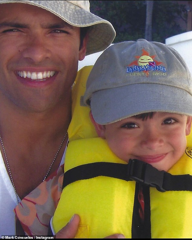 Led the way:'Happy 24th birthday @michael.consuelos!! You led the way.. We love you!!!' proud papa Mark added.