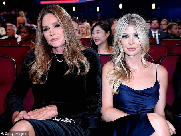 Not mincing words: Hutchins bluntly told the publication that there was 'no hanky panky' between her and Jenner; the pals are pictured at the 2018 ESPYS