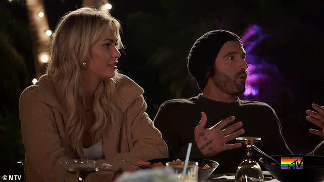 'You are butting in our relationship,' Brody told Heidi. 'I just don't want her to get blackout wasted. She gets blackout wasted'