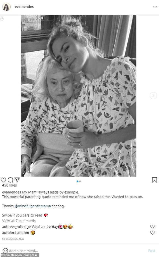 Like mother, like daughter: Eva was raised by her motherEva Pérez Suárez in Los Angeles