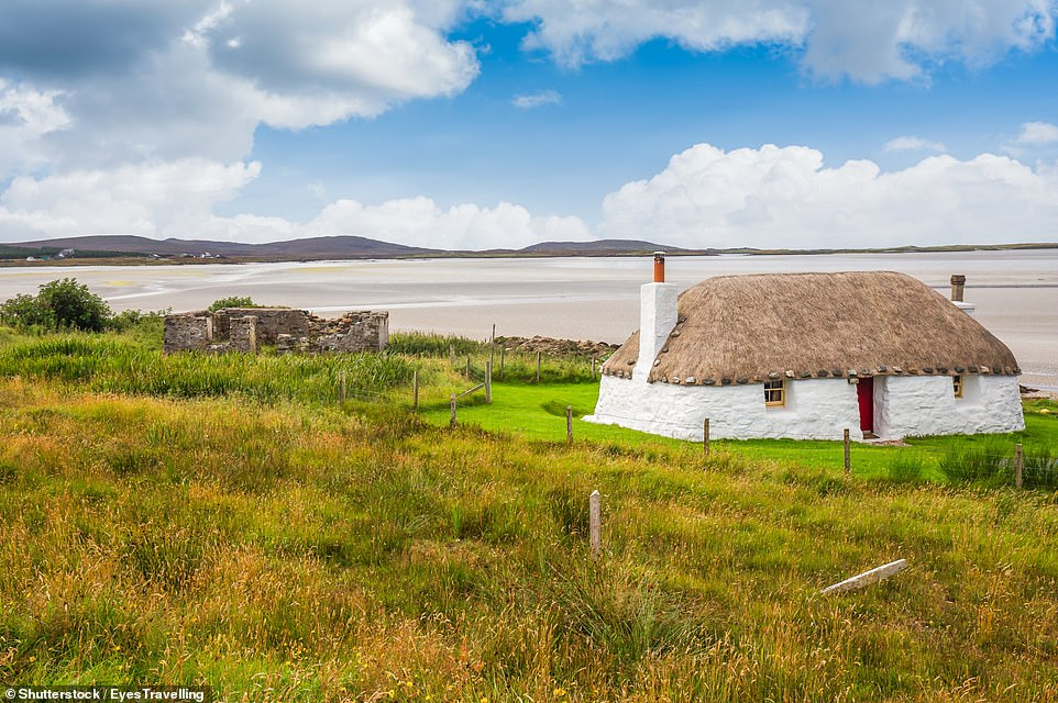 North Uist, pictured, in the Outer Hebrides, was awarded an overall customer score of 76 per cent. It received five stars for its peace and quiet