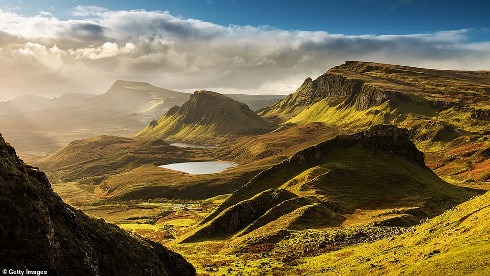 A stunning view across Quiraing - a landslip on the Isle of Skye. The island received an overall customer score of 82 per cent and five stars for its scenery