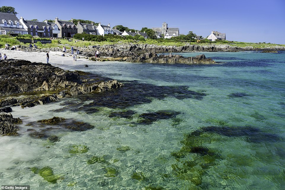 Iona, pictured, received an overall customer score of 80 per cent. It scored four stars for its beaches and tourist attractions