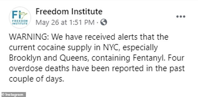Fentanyl-laced cocaine has been reported in the Bushwick and Williamsburg sections of Brooklyn as well as in the Ridgewood neighborhood of Queens