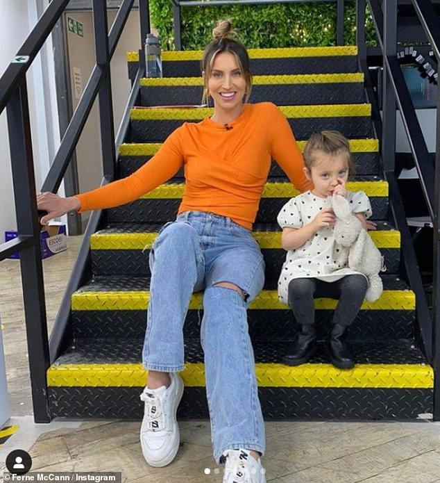Doting mama: The reality star is mum to her three-year-old daughter Sunday