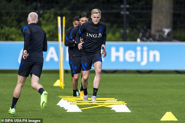 The Dutchman is currently with the Dutch national team as he prepares for Euro 2020