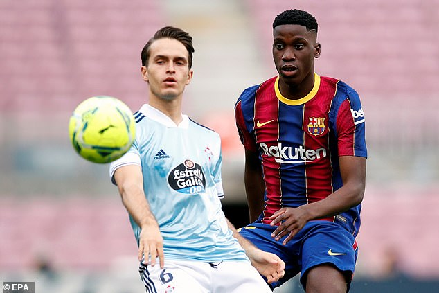 Ilaix Moriba has just one year left on his current deal and could leave Barcelona this summer