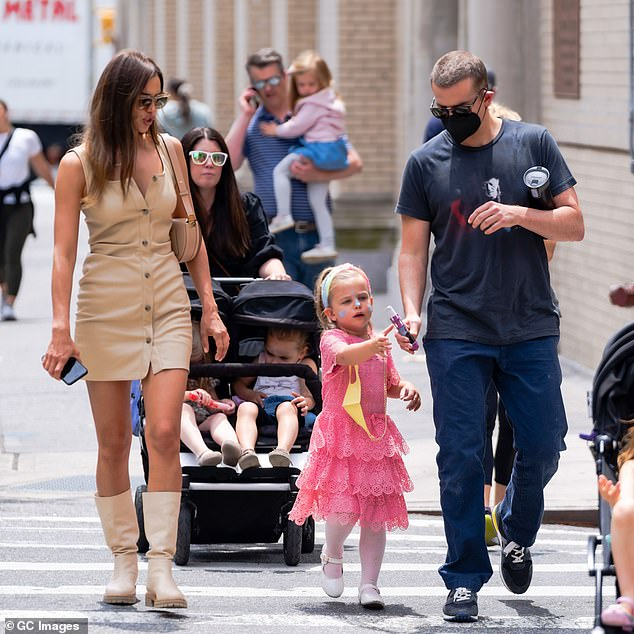 Family time:This comes the day after the Russian model met up with her ex Bradley Cooper as they shared pizza with their daughter