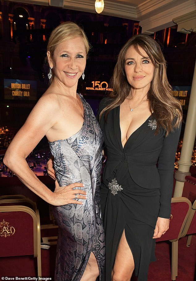 Work it:Tania Bryer and Liz posed for a picture