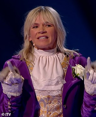 Amazing! It comes after Zoe Ball was unmasked as Llama on Thursday night's edition of The Masked Dancer
