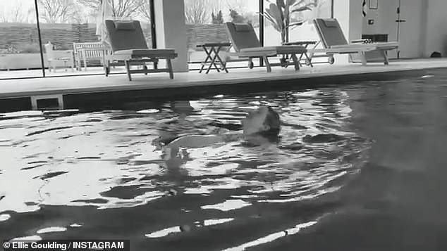 Exercise: Ellie shared an insight into her maternity workouts, which included swimming
