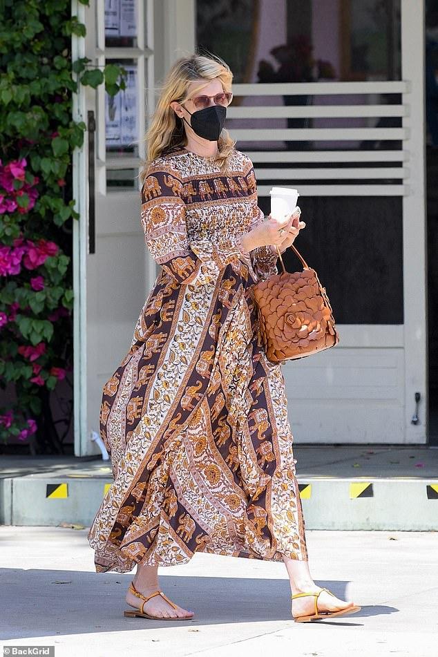 Style:Laura Dern mastered boho chic as she grabbed lunch in Santa Monica on Thursday