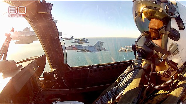 Graves' F/A-18 fighter squadron spotted the 'maneuverable' objects flying in restricted airspace near Virginia Beach almost every day from 2015 to 2017
