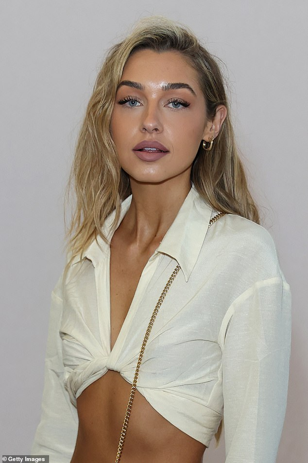'Dusty':Before heading to the show Sammy admitted she was 'dusty' after attending an after party following Tammy Hembrow's Saski Collection show