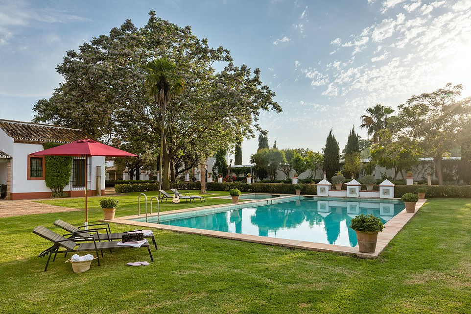 The Airbnb listing says the villa has'typical Andalusian patios and a swimming pool in a sun-drenched garden'