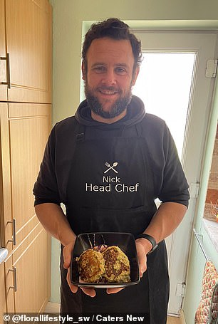 The rugby coach now makes healthy home cooked meals instead of relying on takeaways