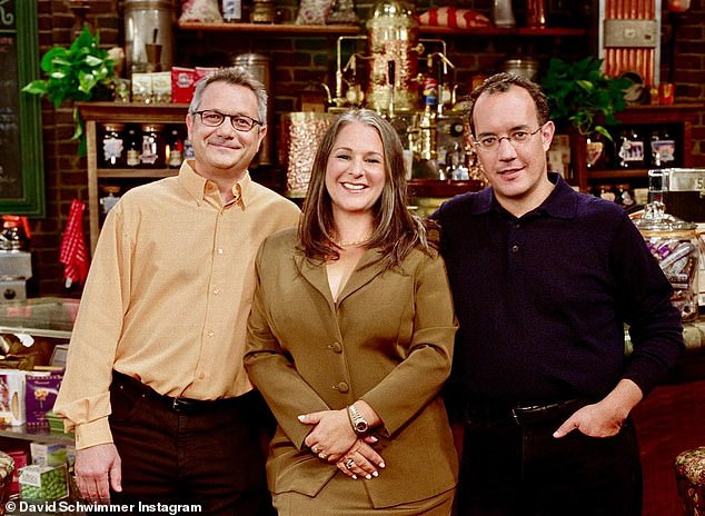 'Where it all started!' the actor wrote in his caption for the photo of Friends creators Kevin Bright, Marta Kauffman & David Crane and added 'forever grateful'