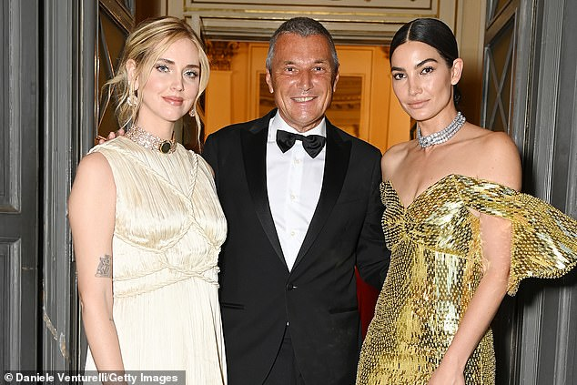 Wow: Lily and Jean-Christophe were joined byChiara Ferragni